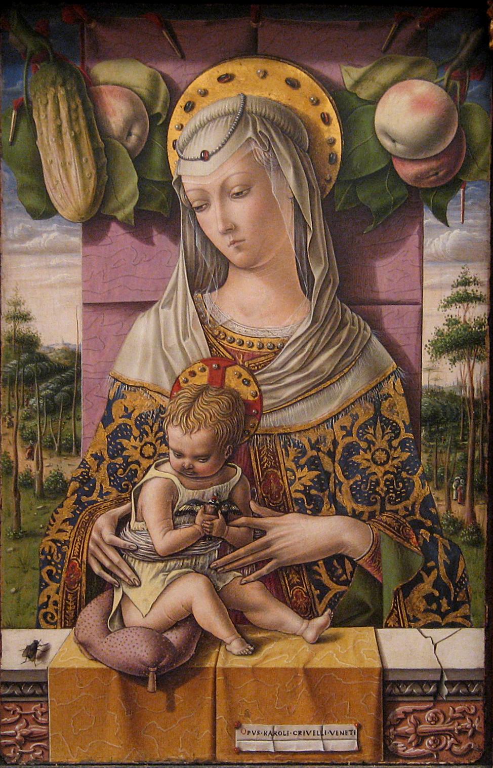 Carlo Crivelli, La Vierge à l'Enfant, vers 1480.