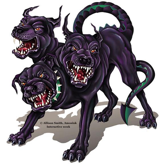 Hades Three-Headed Dog Cerberus