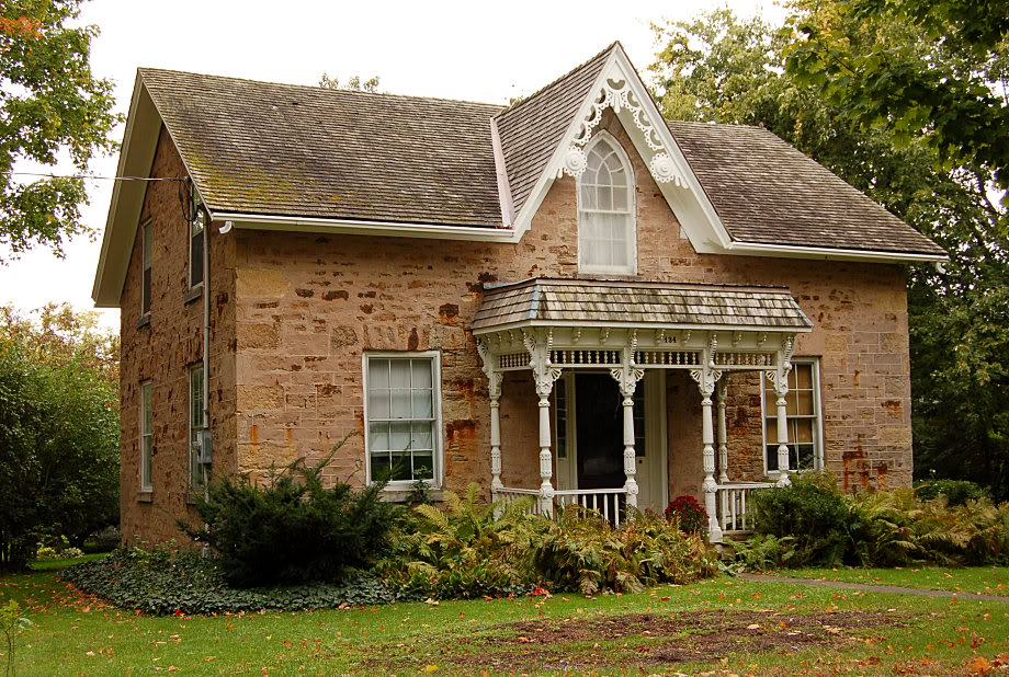 Gothic revival cottages ferrebeekeeper Ontario farmhouse plans