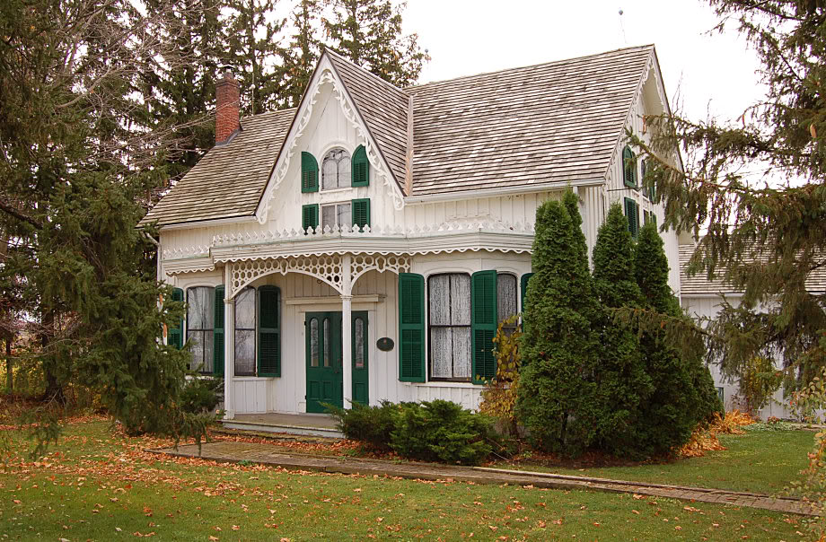 Gothic revival cottages ferrebeekeeper for Gothic revival farmhouse