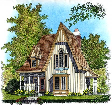 Gothic revival cottages ferrebeekeeper for House plans for small houses cottage style