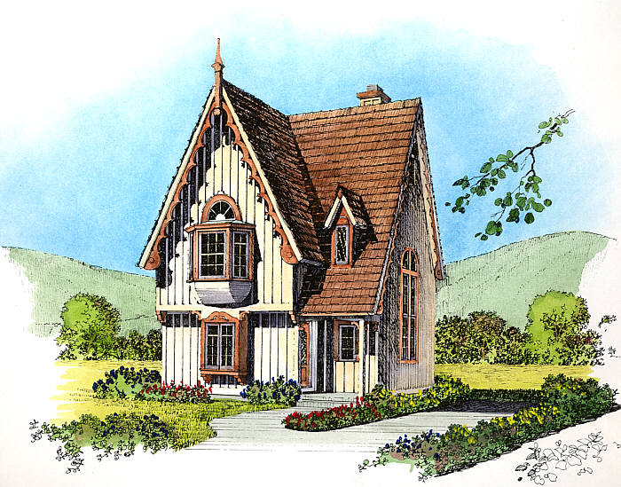 Gothic revival cottages ferrebeekeeper for Summer cottage house plans