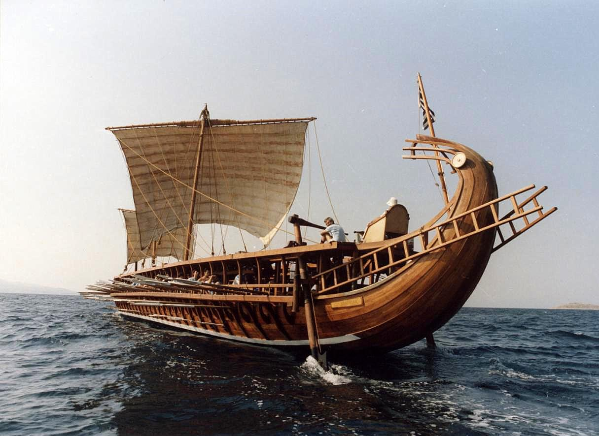 A Trireme in New York Harbor | ferrebeekeeper