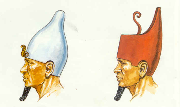 The White Crown Red Crown And Blue Crown Of Ancient Egypt
