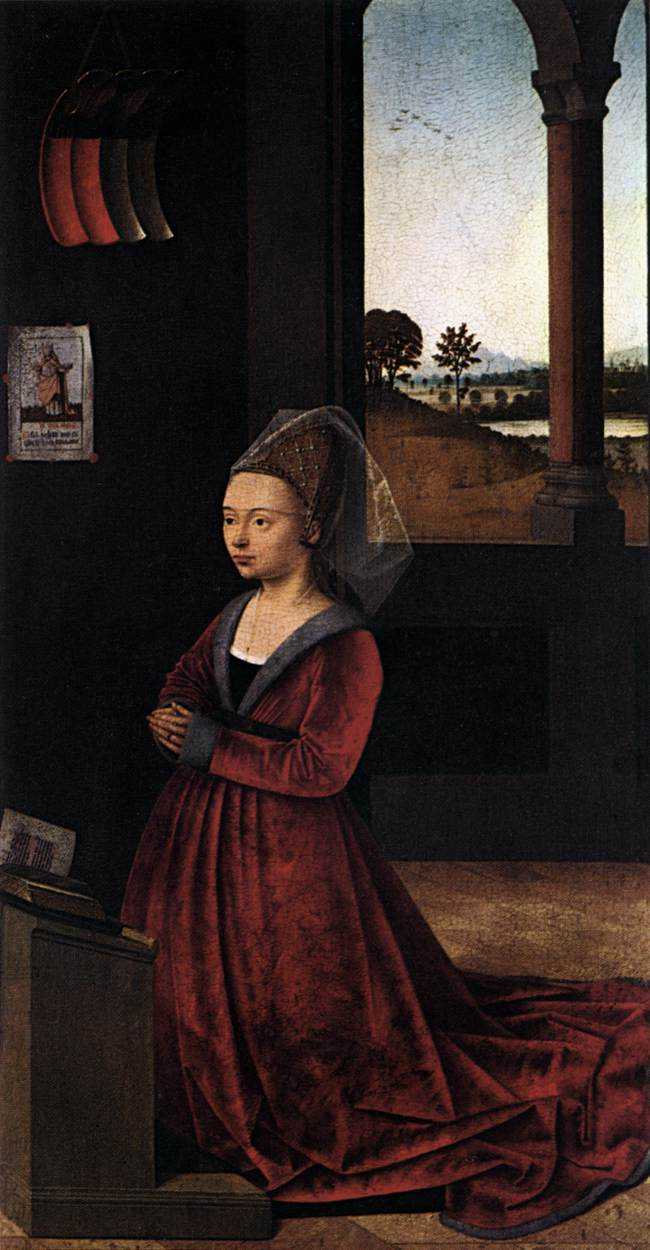 Wife of a Donator (Petrus Christus, 1450, oil on panel)