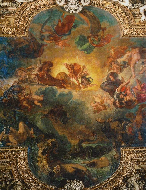 Apollo Slaying Python (Eugene Delecroix, 1851, ceiling)