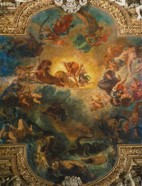 Apollo Slaying Python (Eugene Delecroix, 1851, ceiling)