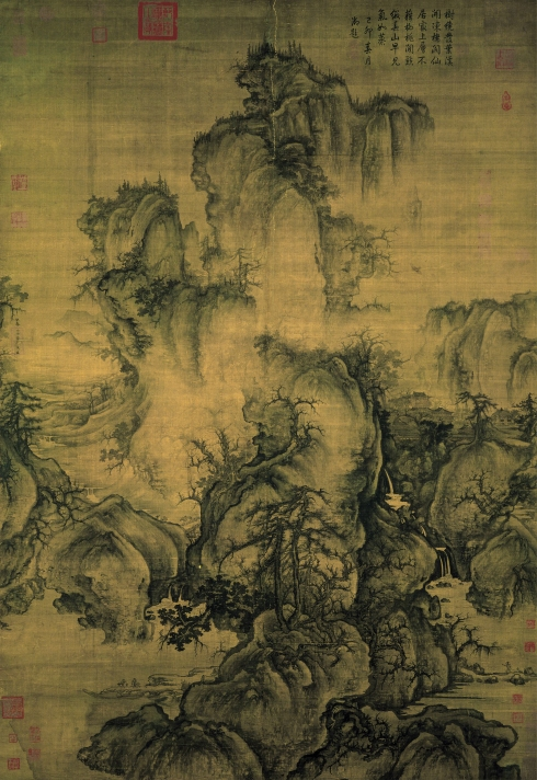 Early Spring (Guo Xi, 1072, ink and light watercolor on hanging silk scroll)