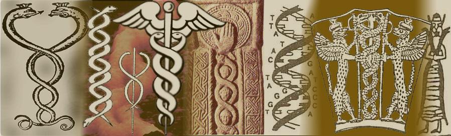 Sumerian Double Helix Snake God Ferrebeekeeper