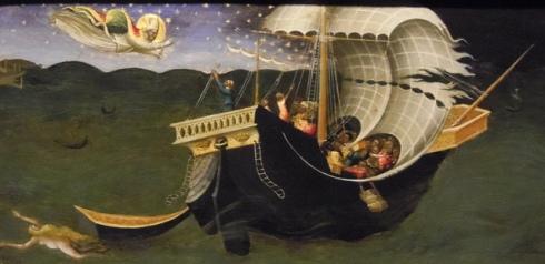 St Nicholas of Bari Rebuking the Storm (Bicci di Lorenzo, ca. 1430s)