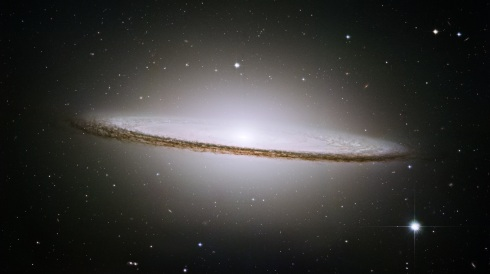 A Composite Image of M104--The Sombrero Galaxy--taken from the Hubble Space Teelscope in Summer of 2003