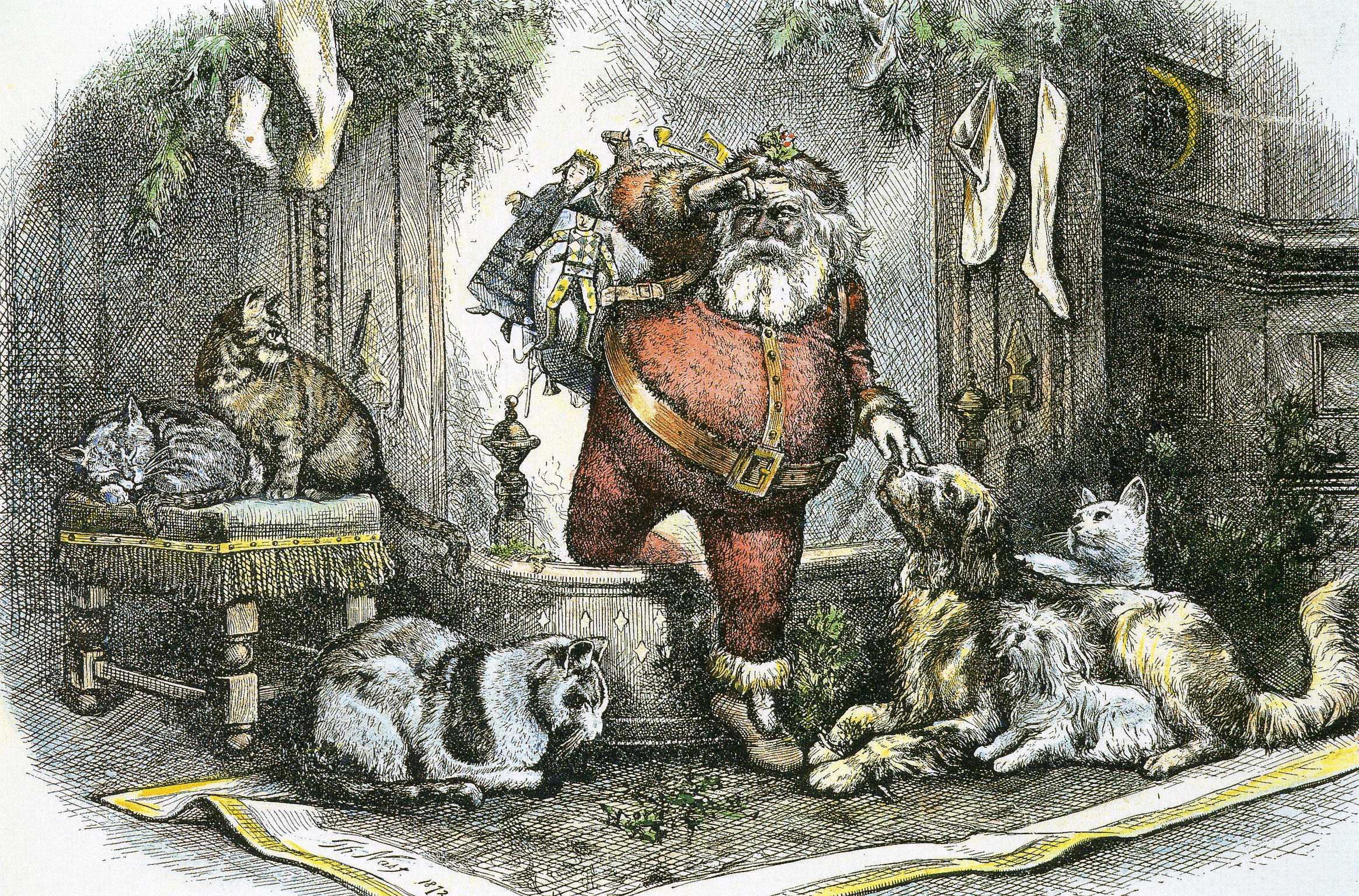 The Coming of Santa Clause (Thomas Nast, 1872)