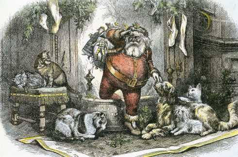The Coming of Santa Clause (Thomas Nast, 1872)