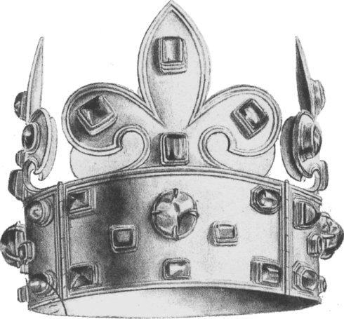 The Crown of Charlemagne, the coronation crown of French Kings for nearly a millenium (shown without cap)