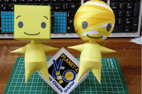 Meet the two cute Venus Climate Orbiter mascots Atsuki-kun & Kinsei-chan.