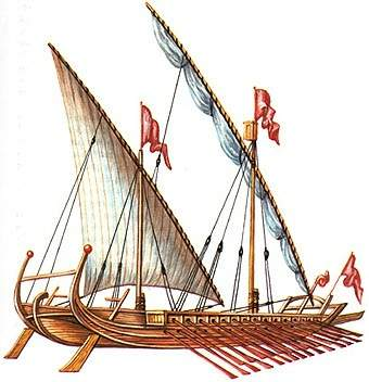 A Lateen-rigged Monoreme Dromon
