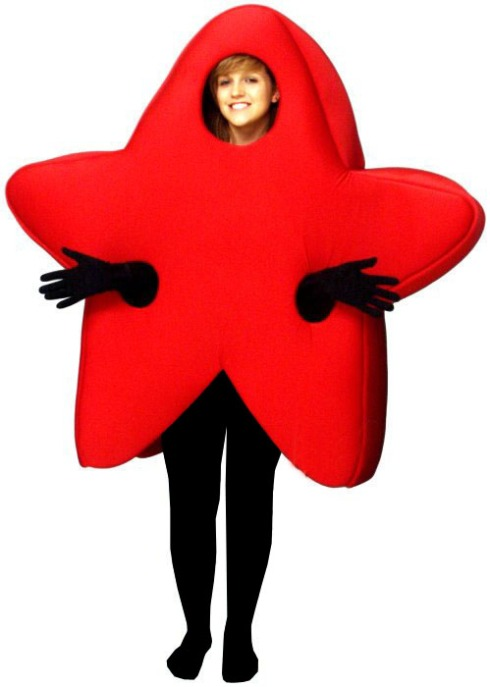 A Red Star Costume