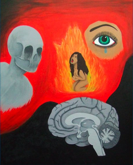 Painting by Mariko Vaughan (acrylic on canvas)