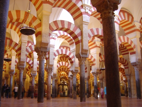 Columns of the Great Mosque of Cordoba (now the Cathedral of Cordoba)