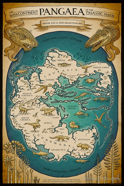 Triassic Pangaea by Richard Morden