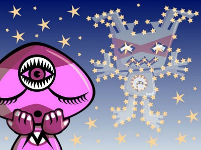 A psychic astronomy mascot