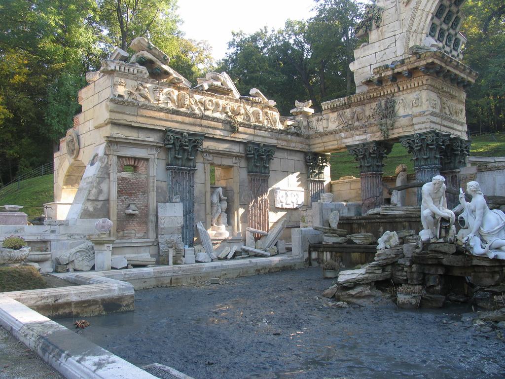 Fake Roman Ruins at the Schönbrunn Palace in Vienna