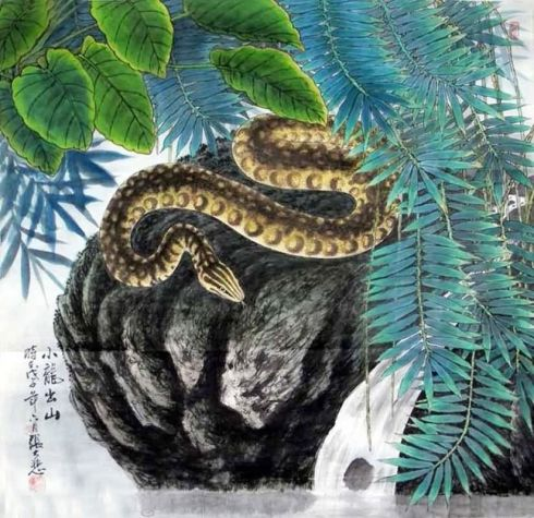 by Zhang Da Be (from InkDance Chinese Painting Gallery)