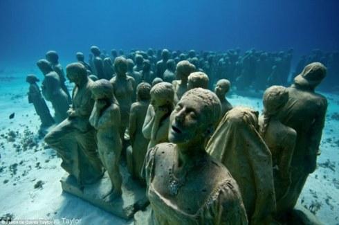 Underwater Sculpture Garden (Cancun, Mexico)