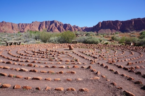Desert Rose Labyrinth, close to Coyote Gulch Art Village in Kayenta