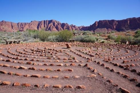 Desert Rose Labyrinth, close to Coyote Gulch Art Village in Kayenta