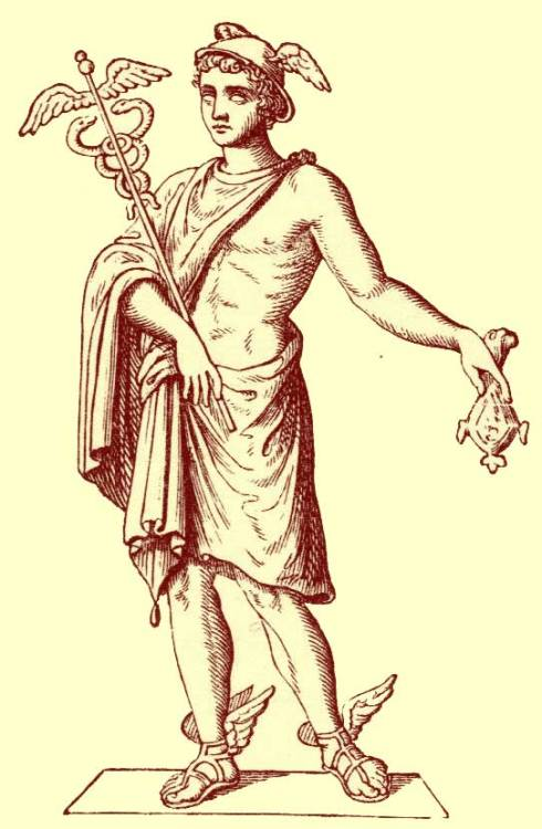 Hermes holding the Caduceus