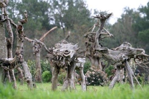 André Morvan Sculpture garden (Brittany, France)