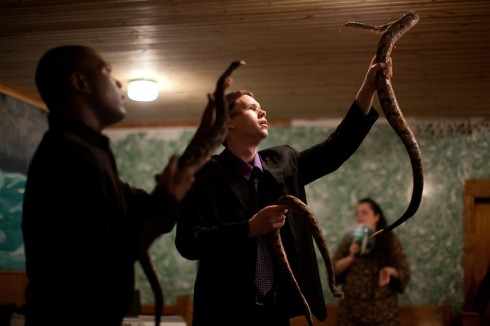 Contemporary Snake-Handlers (photo by Lauren Pond for the Wall Street Journal)