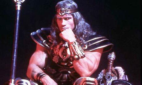 "Arnold Schwarzenegger in ""Conan the Barbarian"" 1982"