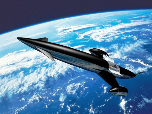 Artist's rendering of SKYLON in orbit (by Reaction Engines Ltd)