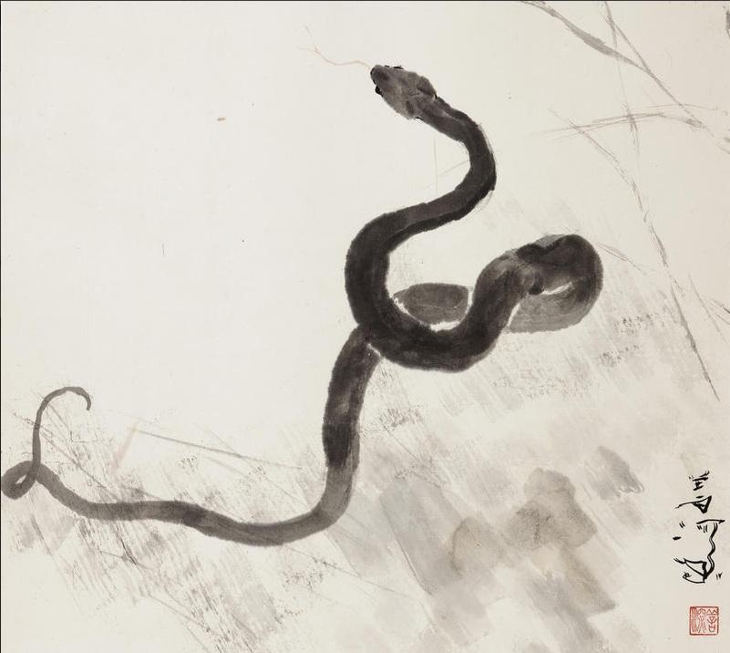 Snake (Yang Shanshen, Ink on paper)