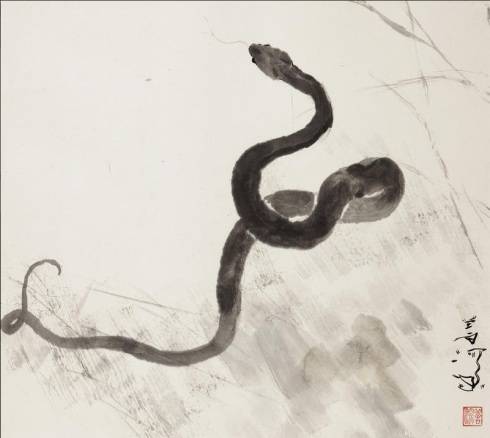 Snake (Yang Shanshen, Ink on paper)