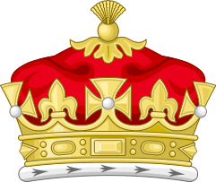 Prince/Princess: The Coronet of a Child of the Sovereign (decorated with crosses and fleurs de lis)