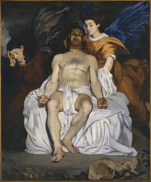 The Dead Christ with Angels (Édouard Manet, 1864, oil on canvas)