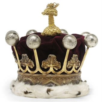 The silver-gilt coronet of the 14th Earl of Kintore (you could have bought it at Christie's for less than a used Trans Am)