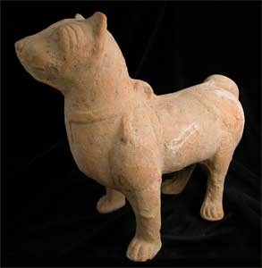 Han Terracotta in the form of a dog
