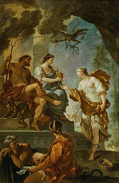 Psyché obtenant de Proserpine l'elixir de beauté (Charles-Joseph Natoire, 1735)