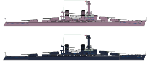 Mountbatten pink (top) versus USN 5-N Navy blue (bottom)