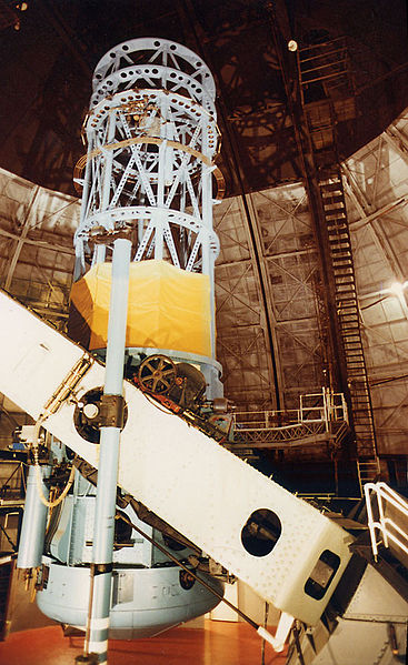 The 100 inch (2.5 m) Hooker telescope at Mount Wilson Observatory near Los Angeles, California