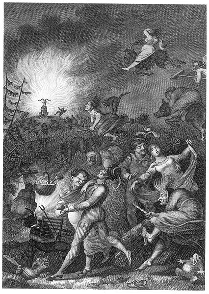 Walpurgis' Night (based on an illustration by Johann Heinrich Ramberg, 1829, steel engraving)