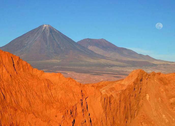 The Atacama Desert (towards the Andes)