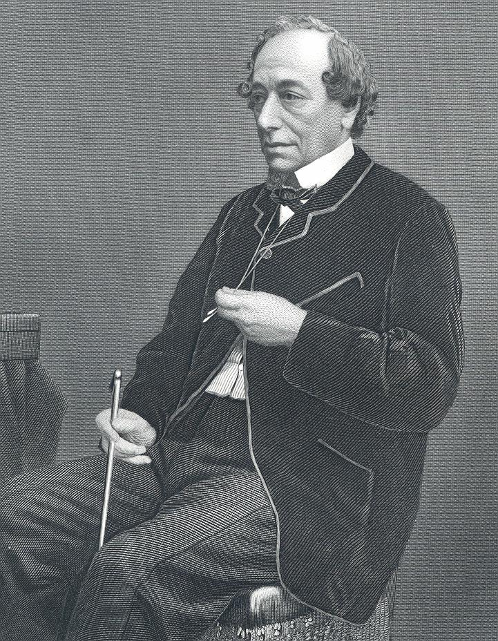 Benjamin Disraeli in the garden?