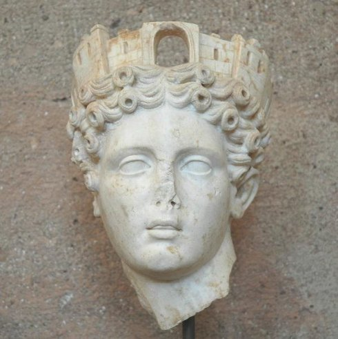 Octavia as the Tyche of Corinth (from the collection of the Museum of Corinth)
