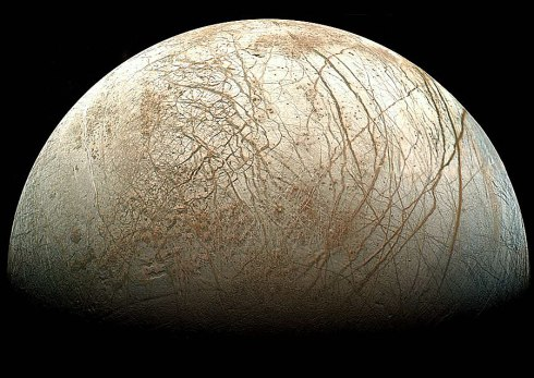 Gibbous Europa (Credit: Galileo Project, JPL, NASA)
