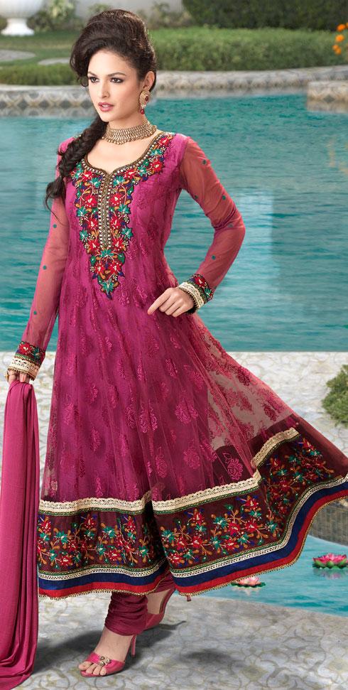 A Puce Sari